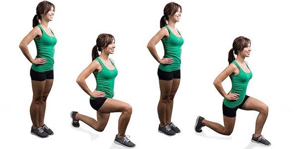 exercicios para o bumbum agachamento com avanço