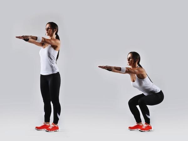 exercicios para o bumbum agachamento fechado