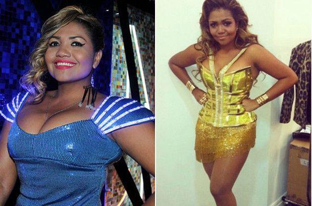 Antes e depois de emagrecer Gaby Amarantos