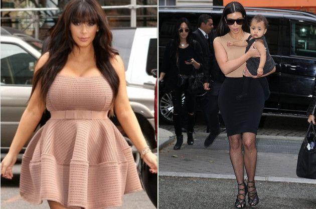 antes e depois de emagrecer kim kardashian